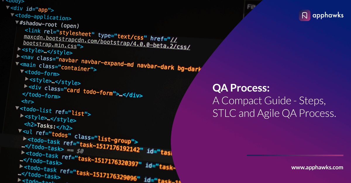 QA Process: A compact guide – Steps, STLC and Agile QA process